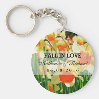 Yellow Daffodils Wedding Favor Keepsake Keychain