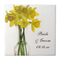 Yellow Daffodils Wedding Tile