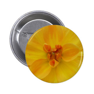 Yellow Dahlia 2 Inch Round Button