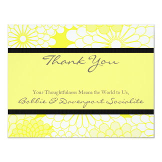 Yellow Dahlia Card