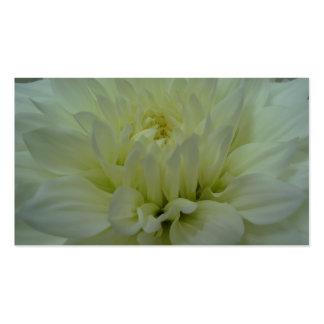 Yellow Dahlia Flower Business Card Template