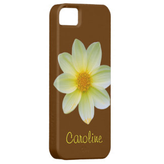 Yellow Dahlia Flower Case iPhone 5 Covers