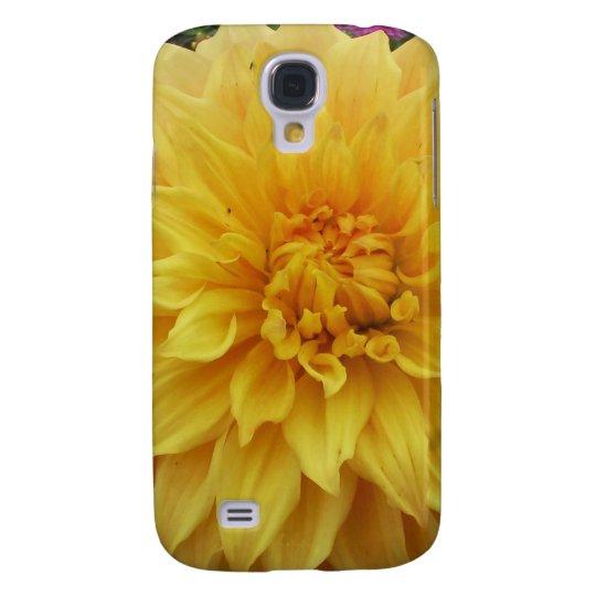 Yellow Dahlia Flower Galaxy S4 Case