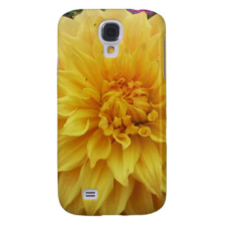 Yellow Dahlia Flower Galaxy S4 Covers