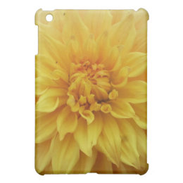 Yellow Dahlia Flower iPad Mini Cases