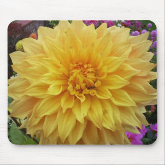 Yellow Dahlia Flower Mouse Pad