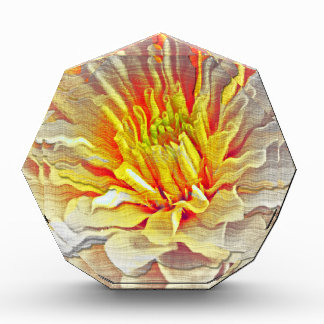 Yellow Dahlia Flower Pencil Sketch Award