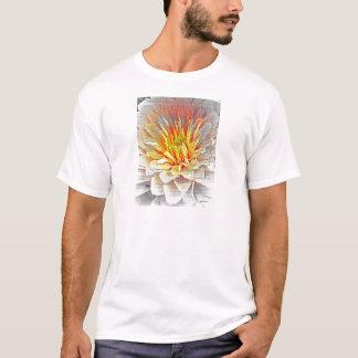 Yellow Dahlia Flower Pencil Sketch T-Shirt