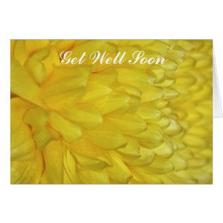 Yellow Dahlia get well soon Card