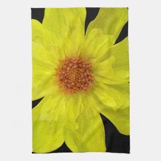 Yellow Dahlia Kitchen Towel