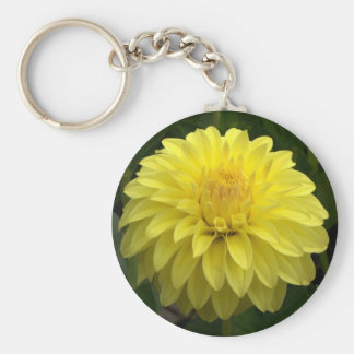 Yellow Dahlia On multiple Products Keychain