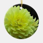 Yellow Dahlia Ornament