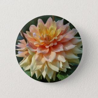yellow dahlia pinback button