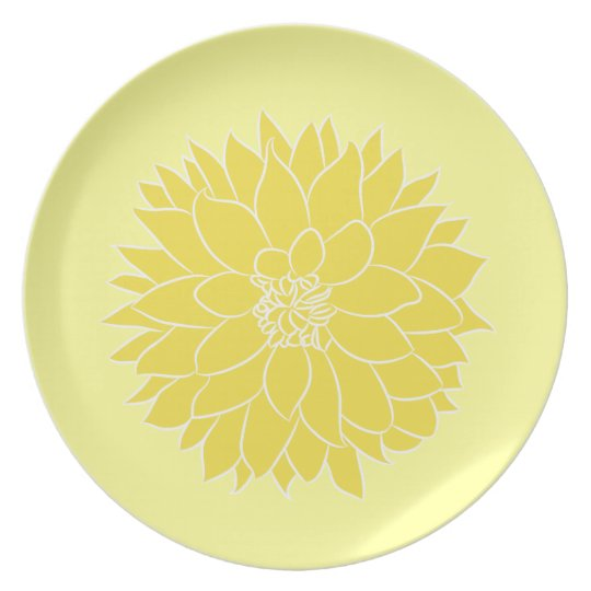Yellow Dahlia Plate
