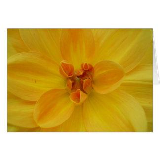Yellow Dahlia Stationery Note Card