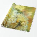 Yellow Dahlias Art Gift Wrap