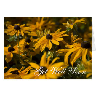 Yellow Daises Get Well Soon Card