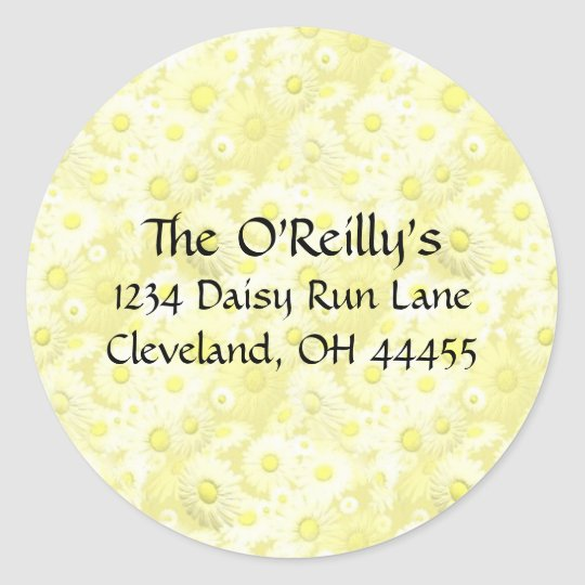 Yellow Daisies Address Labels
