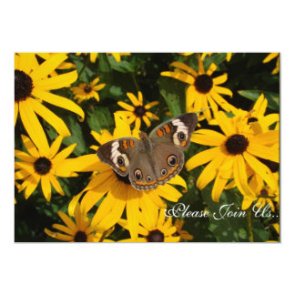 Yellow Daisies and Butterfly  Wedding Invitation
