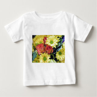 Yellow Daisies and Red Roses Baby T-Shirt