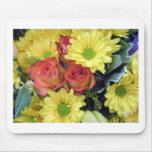 Yellow Daisies and Red Roses Mouse Pad