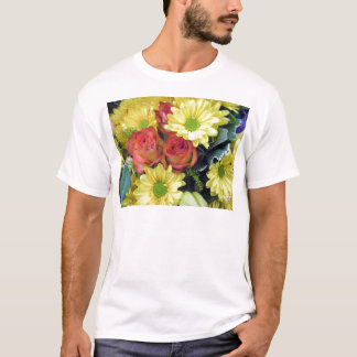 Yellow Daisies and Red Roses T-Shirt