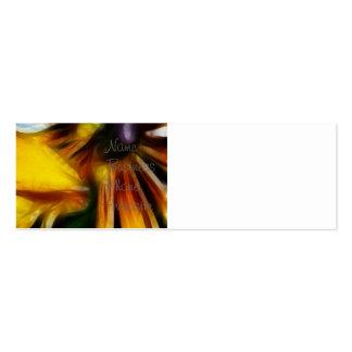 Yellow Daisies Autumn Sunflowers Flowers Art Mini Business Card