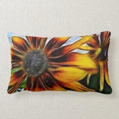 Yellow Daisies Autumn Sunflowers Flowers Art Pillows