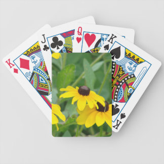 Yellow Daisies Bicycle Playing Cards