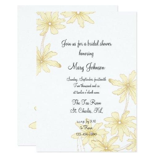 Yellow daisies bridal shower invitation zazzle for Yellow bridal shower invitations