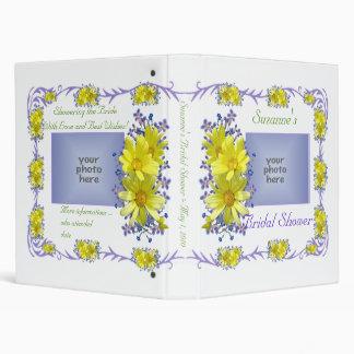 Yellow Daisies Bridal Shower Memories Photo Album 3 Ring Binder