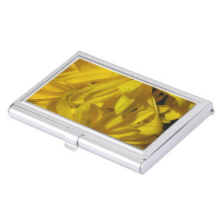 Yellow Daisies Business Card Case