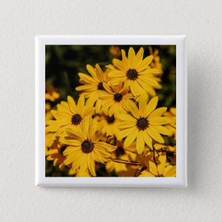 Yellow Daisies Button Pin