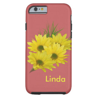 Yellow Daisies, Customizable Name Tough iPhone 6 Case