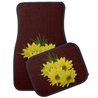 Yellow Daisies, Customizable Floor Mat