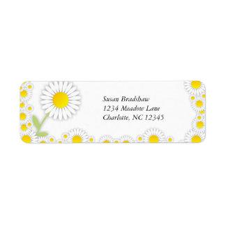 Yellow Daisies Daisy Trim Address Labels