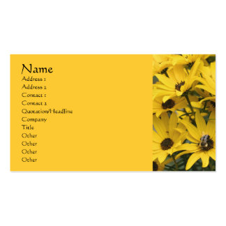 Yellow Daisies Flower Photography Business Card