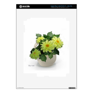 Yellow Daisies in a Pitcher Decal For iPad 3