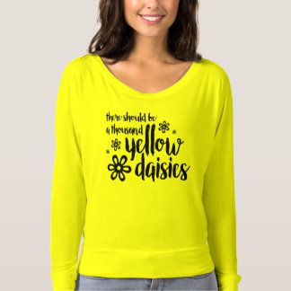 Yellow Daisies Neon Yellow Long Sleeve Tee