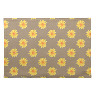 Yellow Daisies on Kraft Paper Placemats