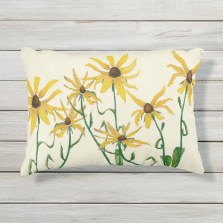 Yellow Daisies Outdoor Pillow