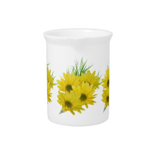 Yellow Daisies Pitcher at Zazzle