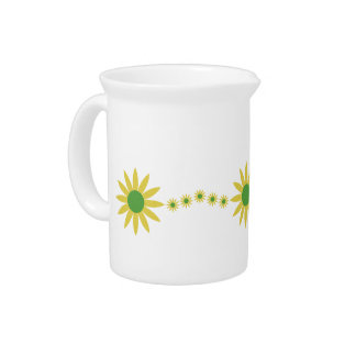 Yellow Daisies Spring Drink Pitcher