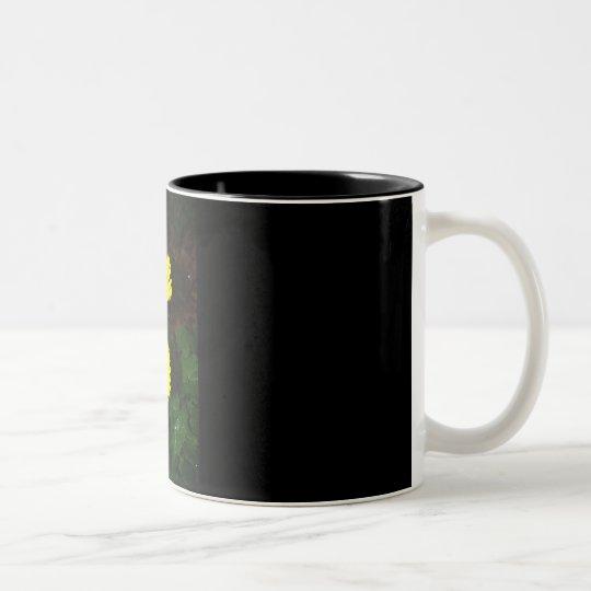 Yellow Daisies Two-Tone Coffee Mug