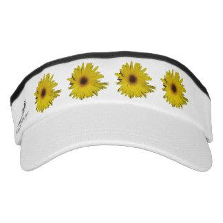 Yellow daisies visor