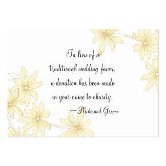 Yellow Daisies Wedding Charity Card
