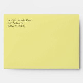 Yellow Daisies Wedding Invitation Envelope