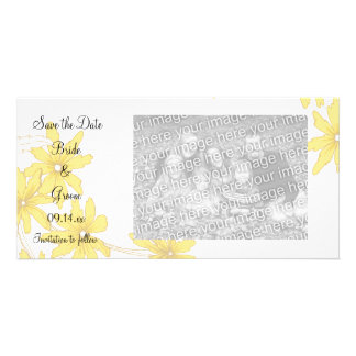 Yellow Daisies Wedding Save the Date Card