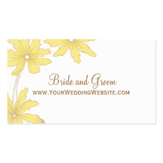 Yellow Daisies Wedding Website Card Business Card