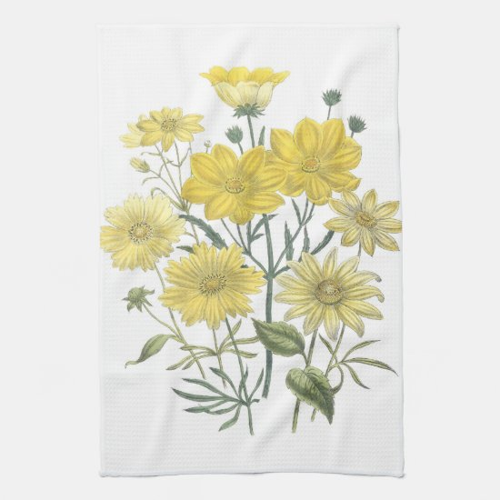 Yellow Daisies Wildflowers Towels